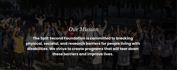 Picture of Mission Statement from Split Second Foundation