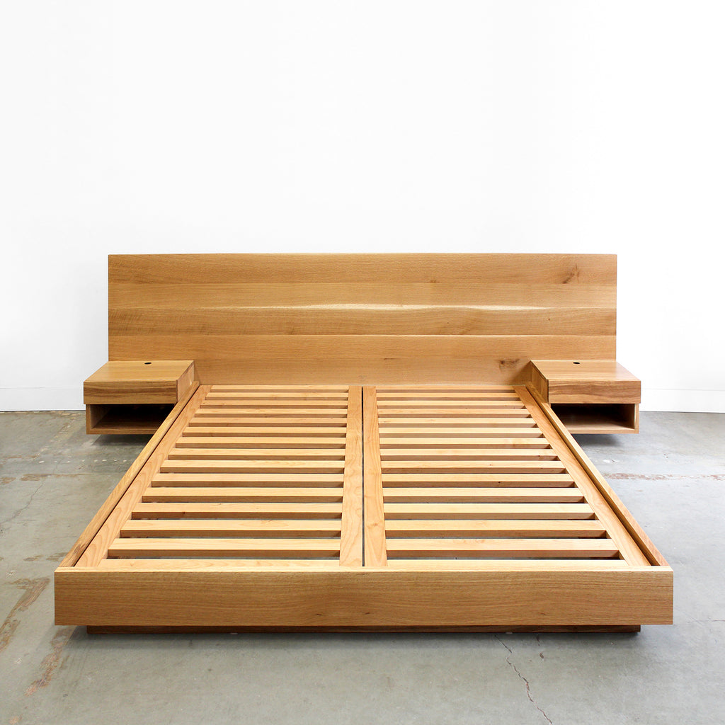 Hanko Plinth Bed with Side Tables