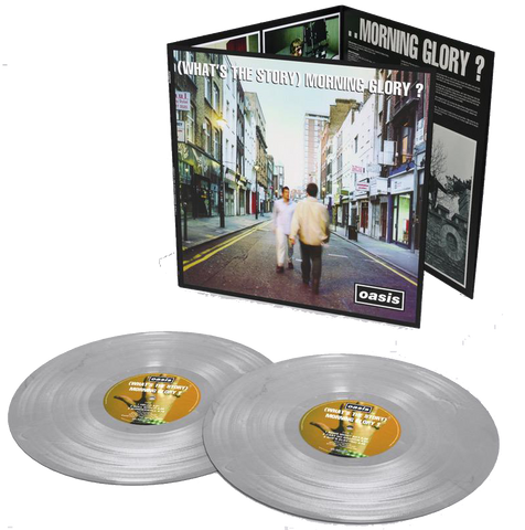 Oasis - (What's the Story) Morning Glory?: 2014 Remastered Double Album on Silver Vinyl - 25th Anniversary Limited Edition with Obi Strip