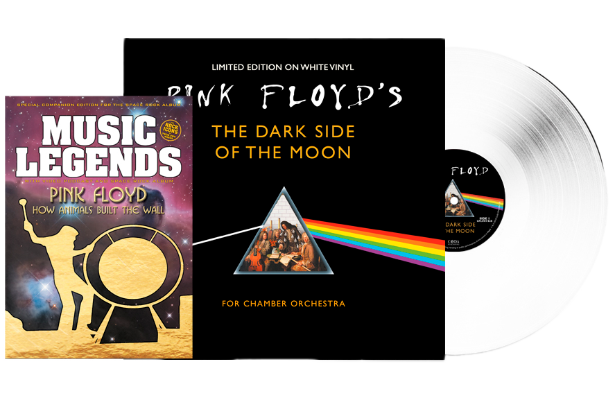 PINK FLOYD'S - DARK SIDE OF THE MOON FOR CHAMBER ORCHESTRA - BOOKZINE & WHITE VINYL SPECIAL LIMITED EDITION BUNDLE