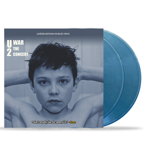 U2 - War - The Concert: 10-Inch Double Album on Blue Vinyl in Gatefold Sleeve - New Edition - Just 2000 Numbered Copies!