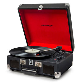 Crosley Cruiser Deluxe Portable Turntable With Built-In Stereo Speakers & Bluetooth Receiver