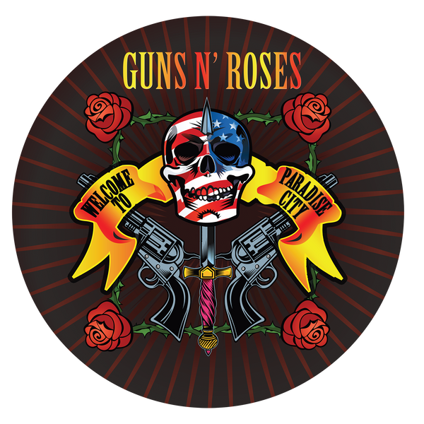 Guns N' Roses - Welcome To Paradise City: Limited Edition Turntable Mat