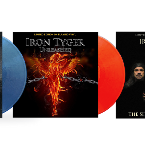 Iron Tyger - Hyperdrive: Blue Sparkle Vinyl / Unleashed: Flaming Vinyl / The Show Must Go On... : White Vinyl Plus Bookzine - Special Limited Edition Bundle!