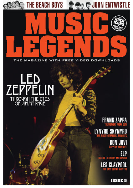 MUSIC LEGENDS MAGAZINE - ISSUE 5 - INCLUDES A FREE LED ZEPPELIN AUDIOBOOK CD!