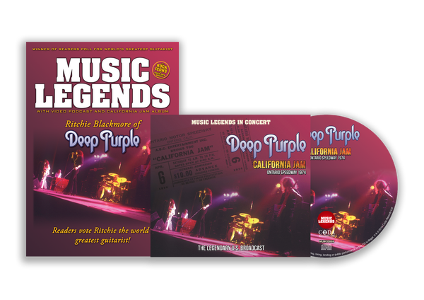 DEEP PURPLE - CALIFORNIA JAM - BOOKZINE & CD SPECIAL LIMITED EDITION BUNDLE