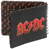 AC/DC Logo Embossed Wallet With Chain