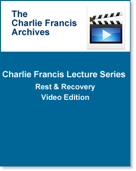 CF Lecture Series : Rest & Recovery