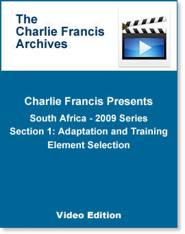 South Africa Series Section 1: Adaptation & Training Element Selection