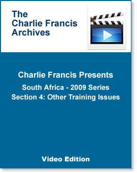 South Africa Series Section 4: Other Training Issues