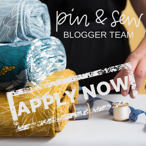 Apply to be a 2019 Pin & Sew Blogger - NOW CLOSED