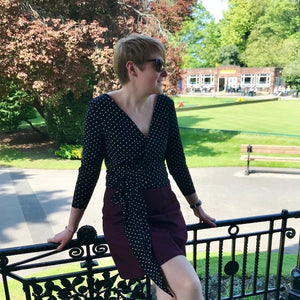 PIN & SEW MAKES: French Chic Polka Dot Elmira Cardigan