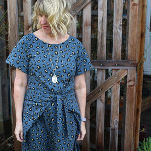 PIN & SEW MAKES: Glitter Jersey Kielo Wrap Dress