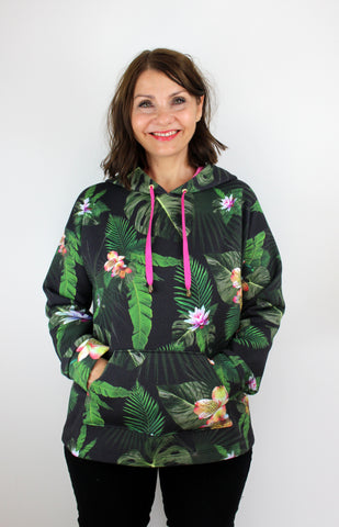 jungle flower stella hoodie