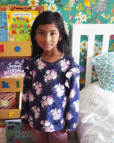 SEWING FOR KIDS : Floral Ikatee Jasmin Sweatshirt – Pin & Sew