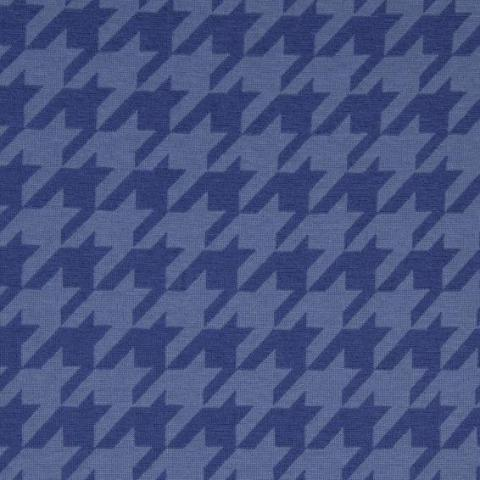 Large Houndstooth Jacquard Knit - Petrol/Blue