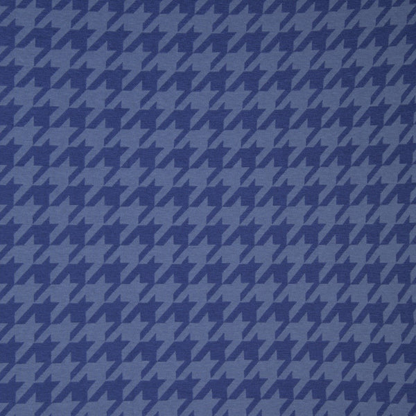 Large Houndstooth Jacquard Knit - Petrol/Blue - 47CM