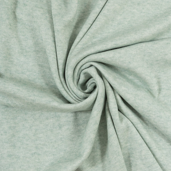 dusky green mint sweater knit fabric
