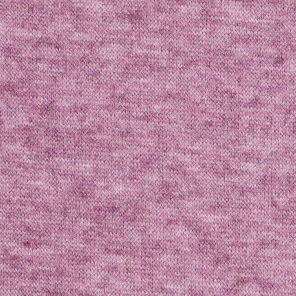 lilac melange sweater knit fabric