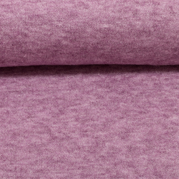 soft viscose sweater knit in lilac purple