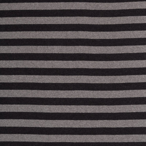 Grey and Graphite Stripe Sweater Knit - 123cm END OF BOLT