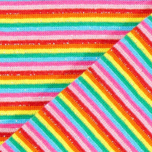 Cotton Ribbing - Glitter Rainbow