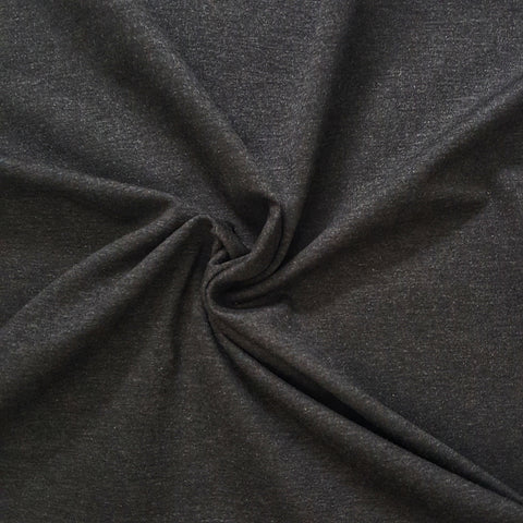 charcoal grey ponte roma jersey double knit fabric