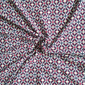 viscose jersey fabric geometric print