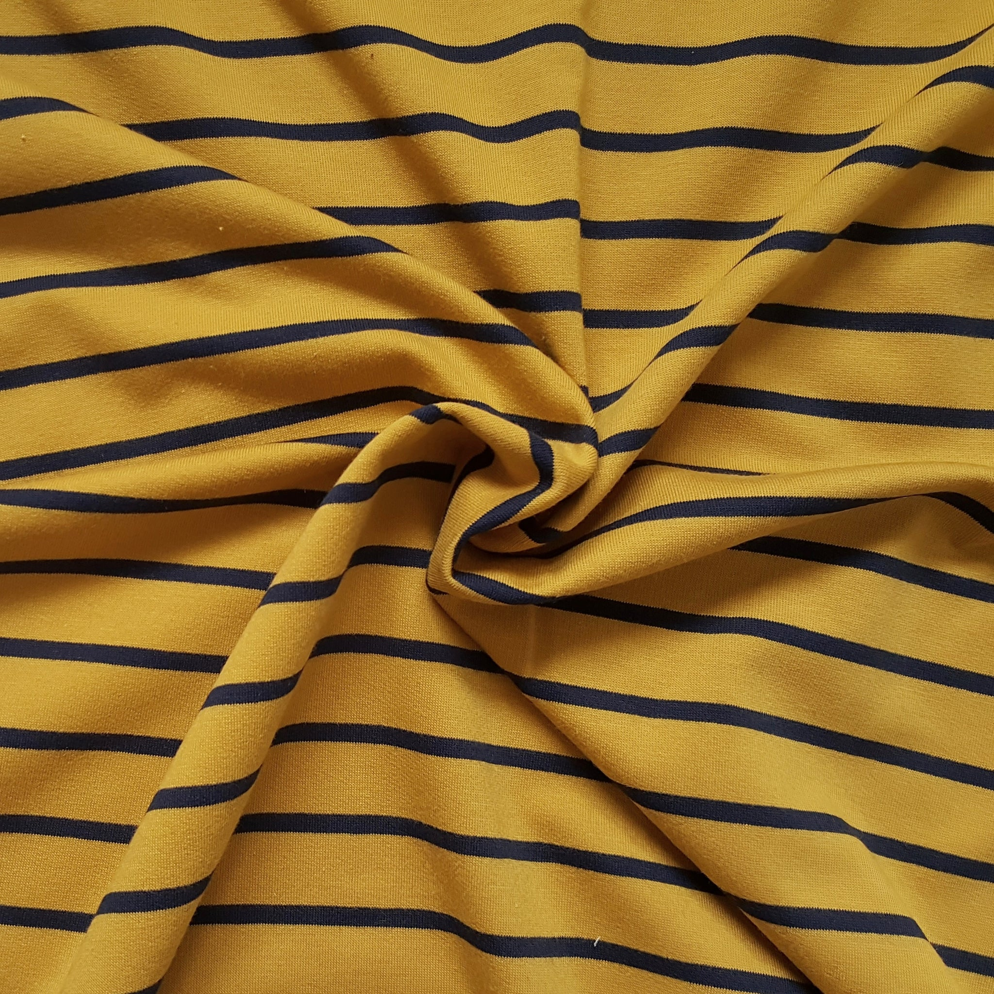 mustard stripe loopback jersey french terry