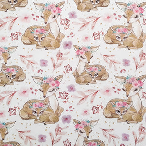 Sleeping Deer Cotton Jersey