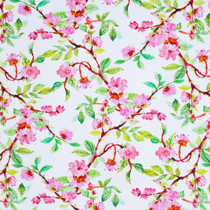 cherry blossom jersey knit fabric