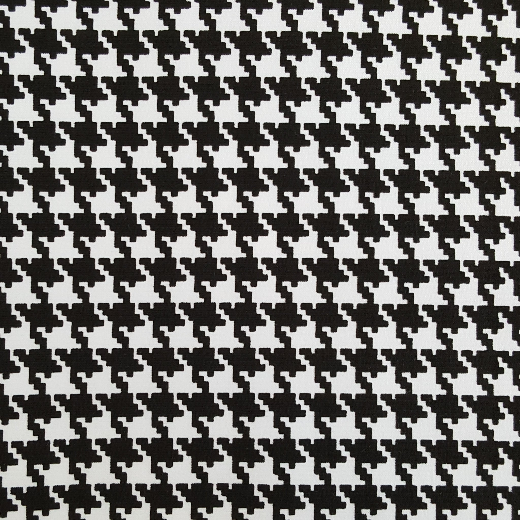 houndstooth print french terry jersey knit fabric