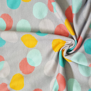 large scale confetti multicolour jersey french terry fabric