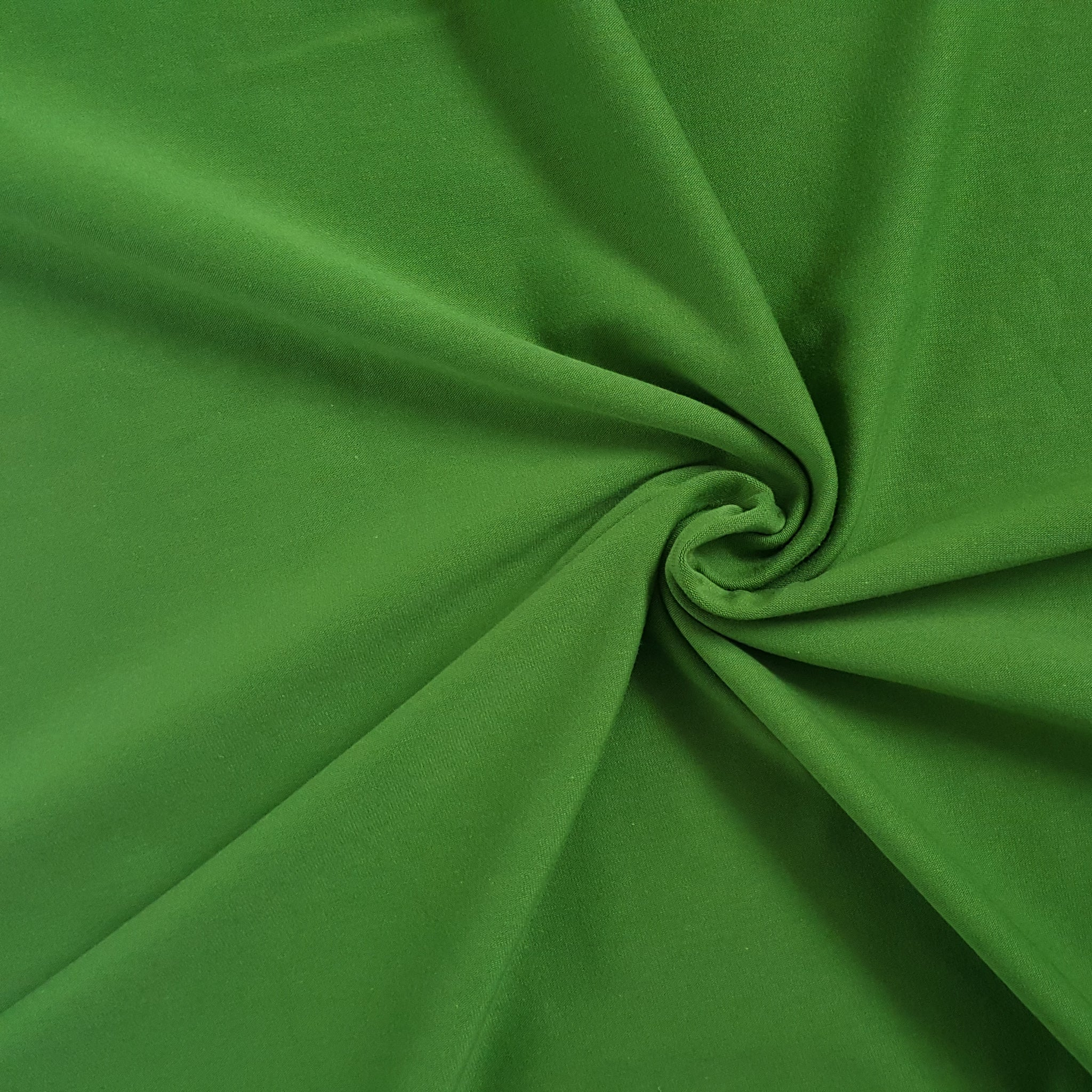 kale green cotton jersey fabric