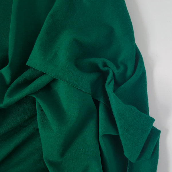 Bottle Green Fleece Sweatshirt - END OF BOLT - 89CM