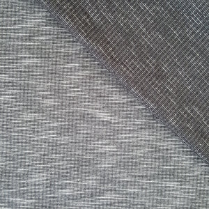 salt and pepper mottled grey french terry