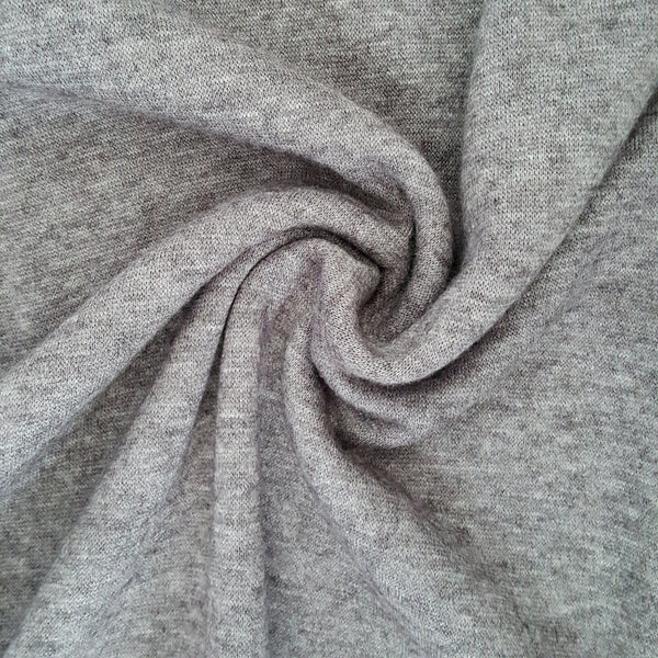 grey sweater knit jersey fabric