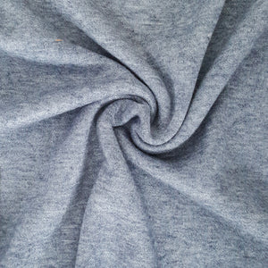 blue melange sweater knit fabric