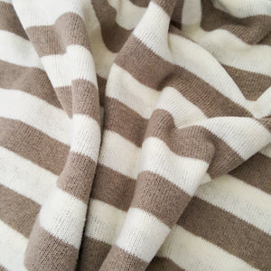 Caffe Latte Stripe Sweater Knit