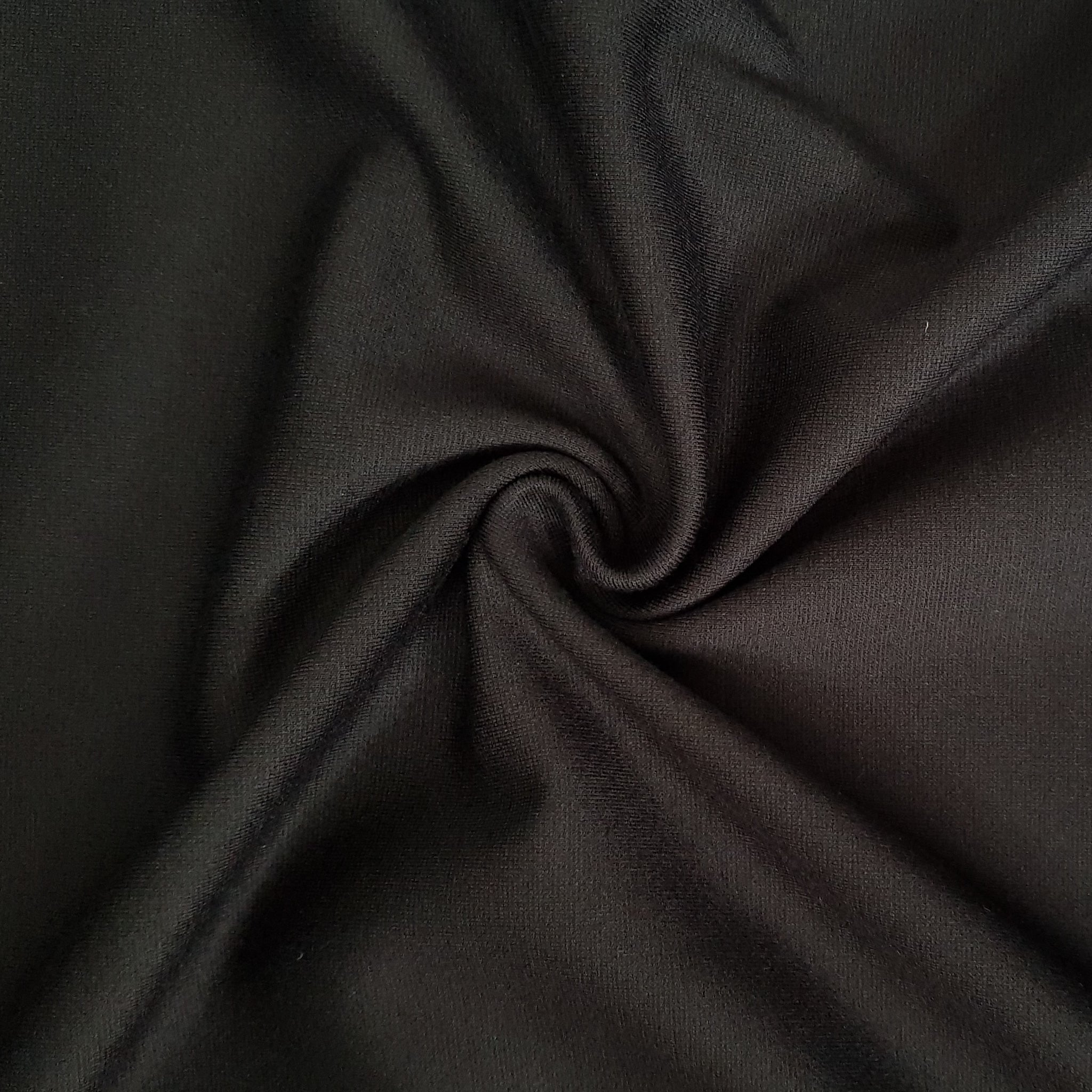 black viscose ponte roma fabric