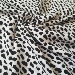 Monochrome Animal Print Peach Skin