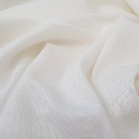 viscose linen dressmaking fabric - off white