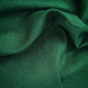 Enzyme Washed Linen - Bottle Green