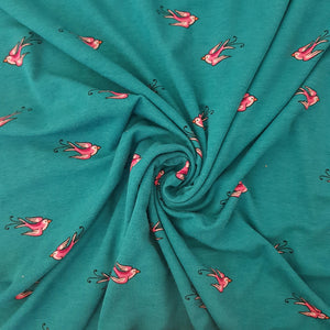 Little Birds Viscose Jersey - END OF BOLT - 115CM