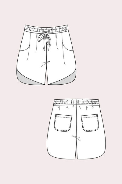 Alexandria Peg Trousers & Shorts Pattern