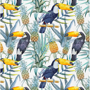Exotic Bird Cotton French Terry