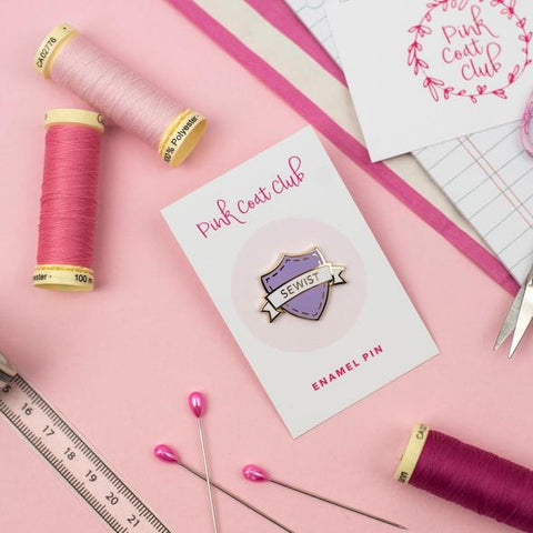 sewist enamel pin sewing gift