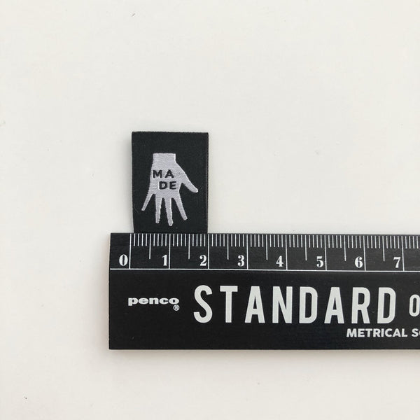 "''Made"" Woven Labels 8 Pack"