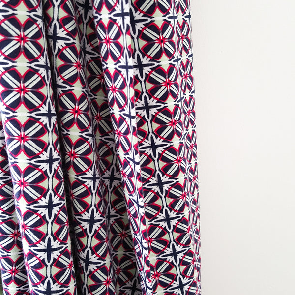 viscose jersey knit - geometric digital print