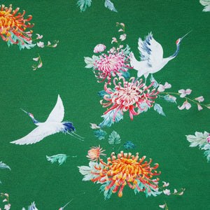 green cranes french terry loopback jersey
